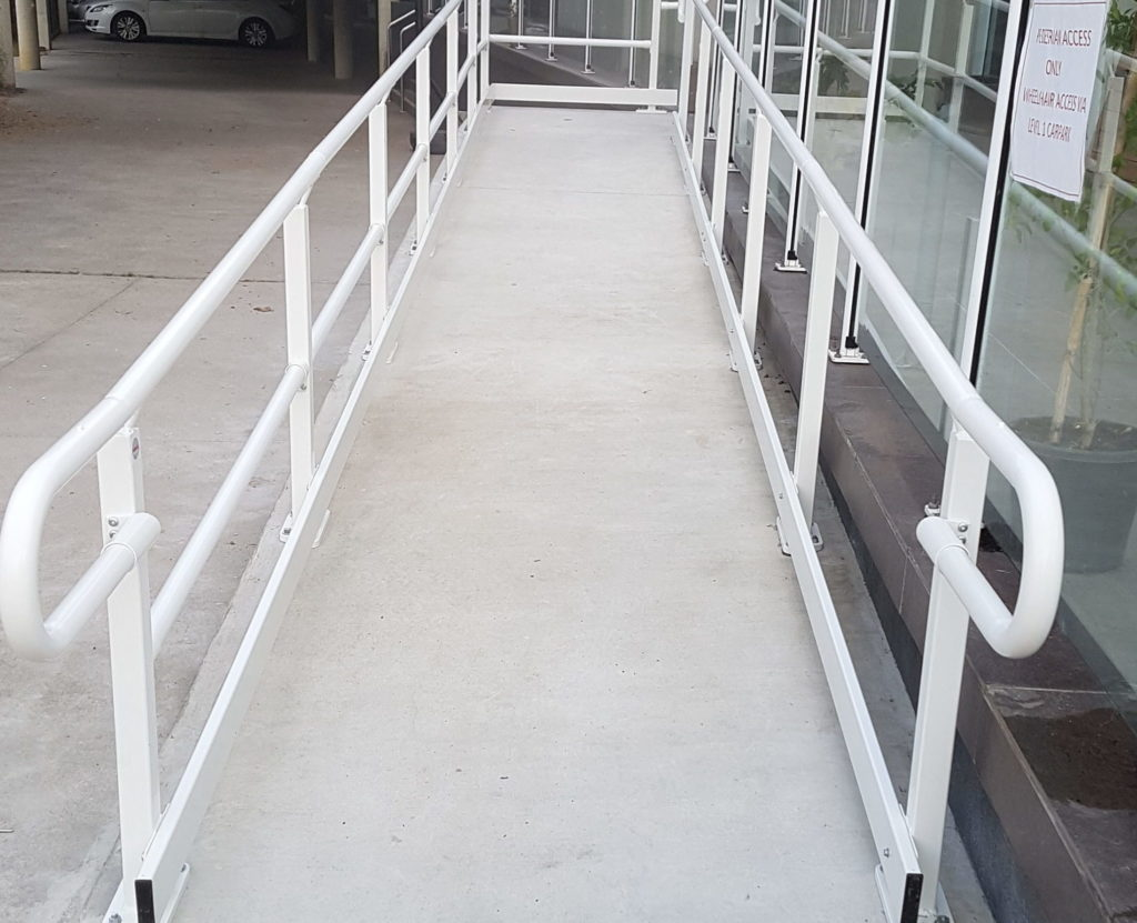 Nexus Flat-Pack Hand Rail Systems (HRS) product solution and installation example - ARASolutions