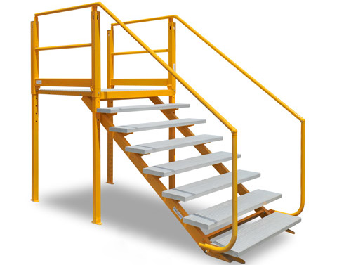 Nexus Flat-Pack Adjustable Landing with Tread Series 7-1520 ramp accessibility solutions disabled access - ARASolutions