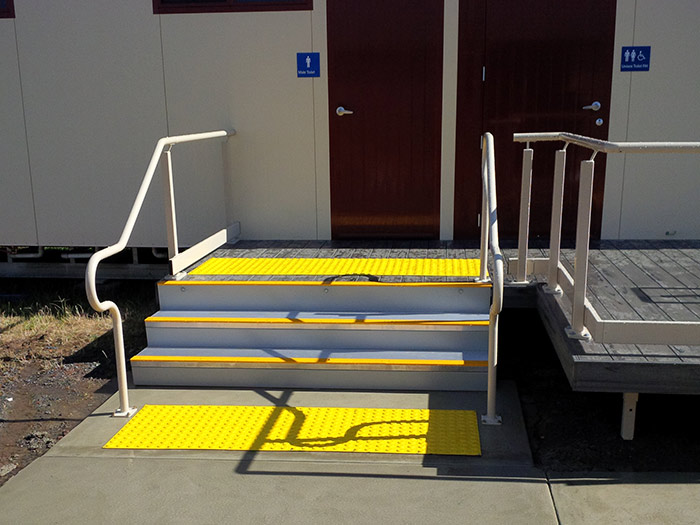 ARASolutions Australian Ramp and Access Solutions Nexus Flat-Pack Hand Rail Systems (HRS) product solution and installation example