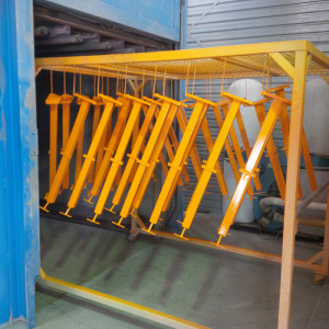 ARASolutions Australian Ramp and Access Solutions ramp manufacturing production line after paint process