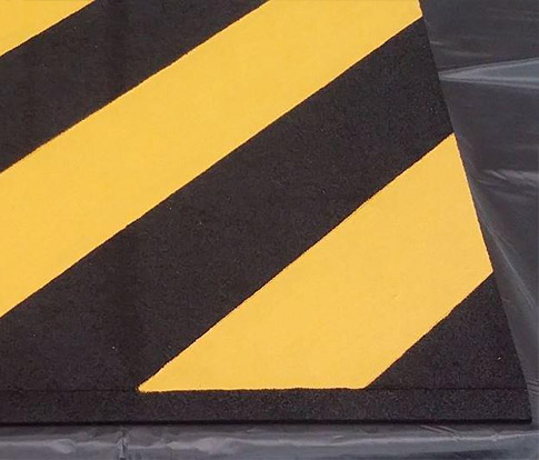"Custom Rubber Threshold ""Hazardous"" Ramp by Australian Ramp and Access Solutions"
