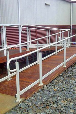 Nexus Flat-Pack Ramp Systems product solution and installation example - Australian Ramp and Access Solutions